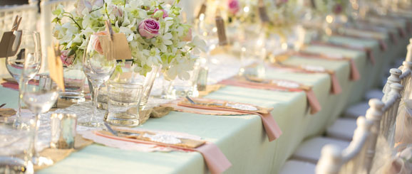 Table Setting for a Wedding Reception